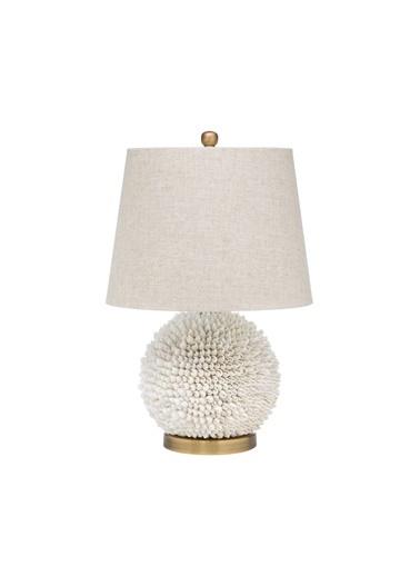 Warm Design Deniz Kabuğu Masa Abajuru Beyaz